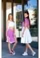 White Midi Skirt VILA